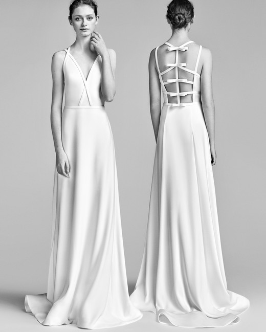 Viktor&Rolf Sheath Wedding Dress with V-Neck Spring 2018