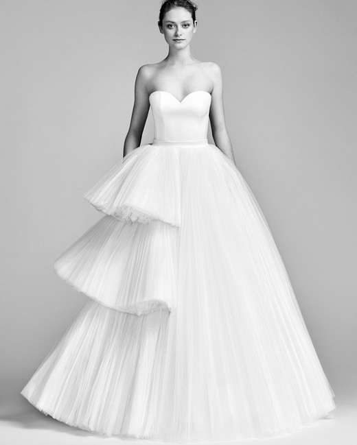 Viktor&Rolf Strapless Wedding Dress with Tulle Spring 2018