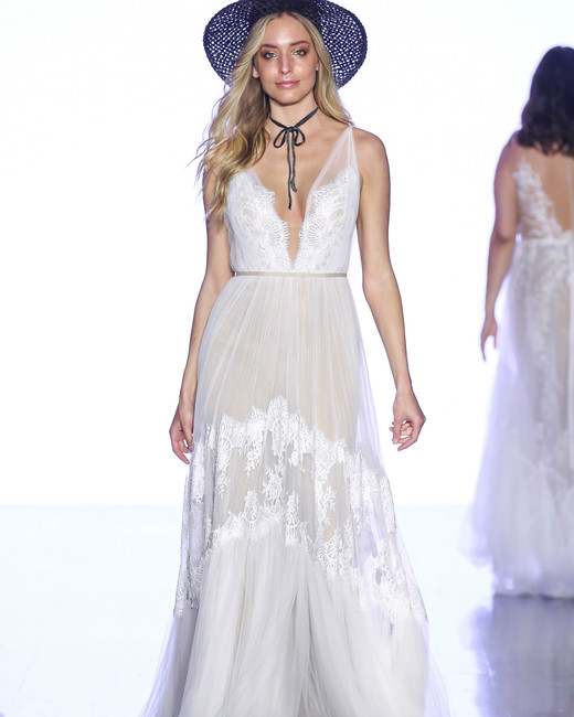 willowby by watters floral applique v-neck wedding dress spring 2020