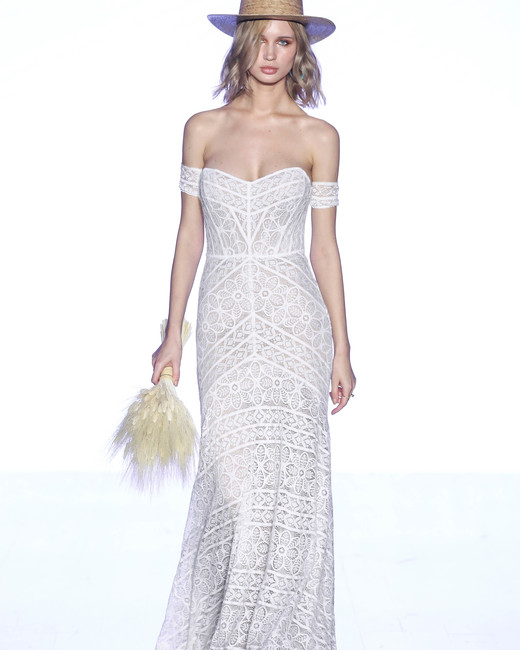willowby by watters over the shoulder floral applique wedding dress spring 2020