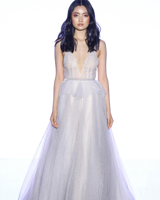 willowby by watters v-neck glitter wedding dress spring 2020
