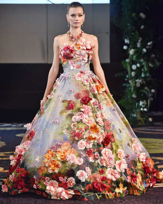 yumi katsura floral a-line ball gown wedding dress fall 2018