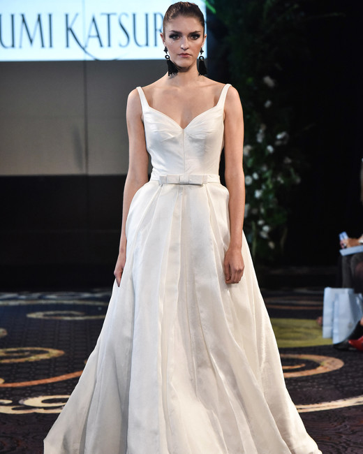 yumi katsura fall 2018 sweetheart belted wedding dress