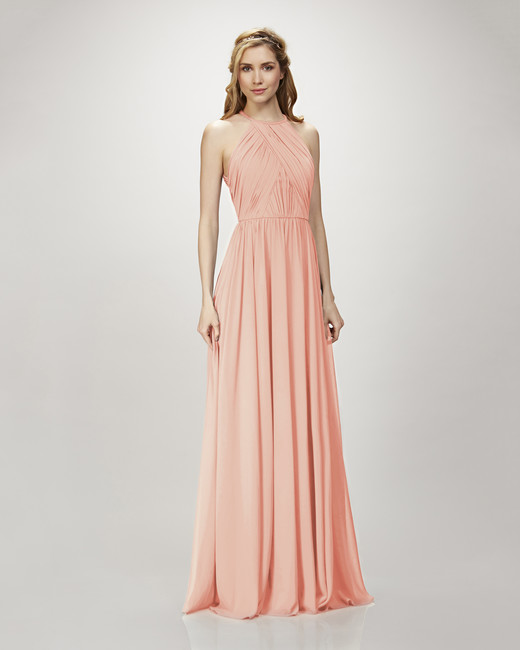 coral bridesmaid dress theia 910103 allison
