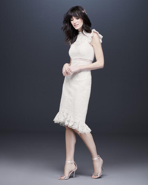 tea length high neck wedding dress davids bridal galina Spring 2020