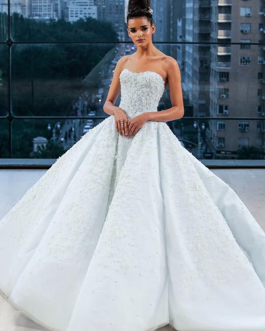 ines di santo wedding dress fall 2018 sweetheart blue ballgown