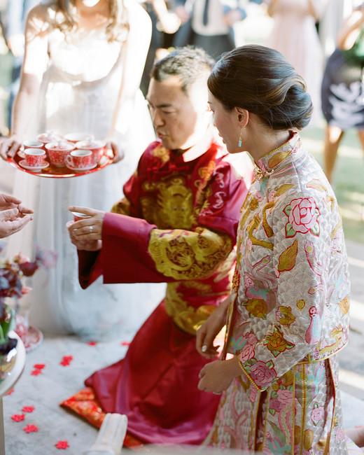 ivana nevin wedding couple at tea ceremony