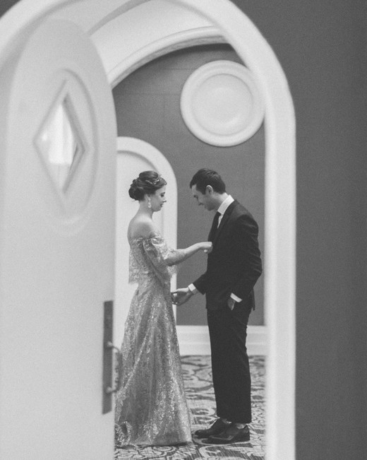 kae danny wedding first look