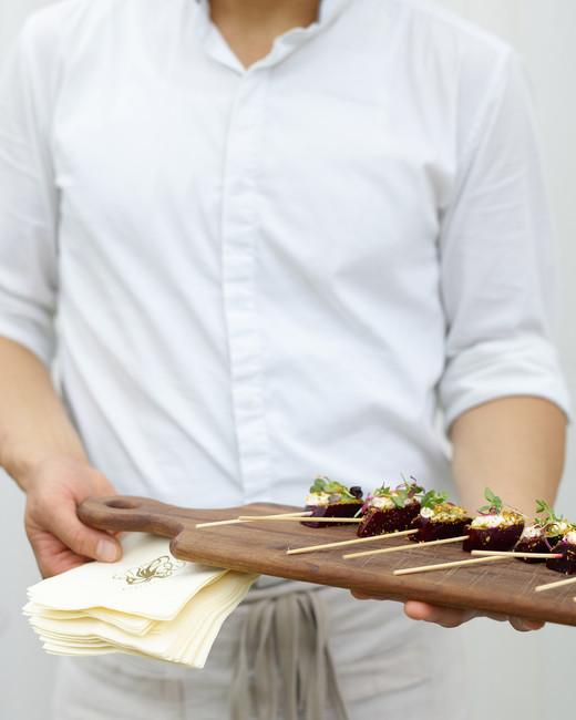 kaitlin dan wedding appetizers