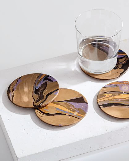 leather anniversary gifts west elm coasters