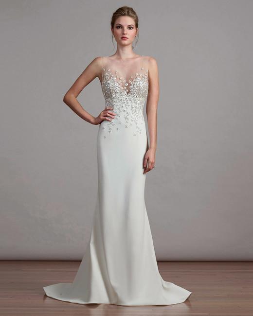 liancarlo illusion sheath wedding dress