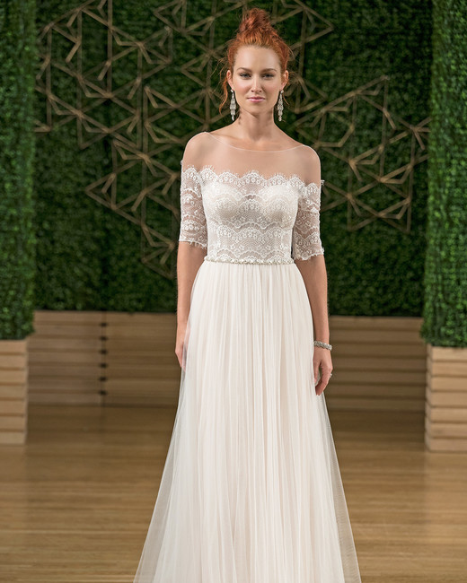 rebecca ingram illusion wedding dress fall 2018