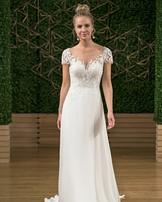 rebecca ingram cap sleeve wedding dress fall 2018