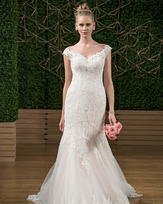 rebecca ingram floral mermaid wedding dress fall 2018