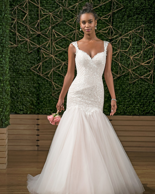 rebecca ingram v-neck trumpet wedding dress fall 2018