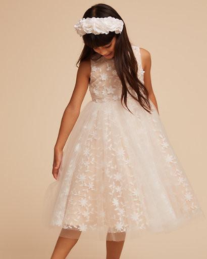lace tulle illusion cream colored dress