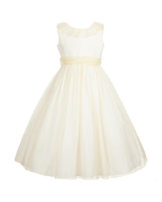 light yellow flower girl dress