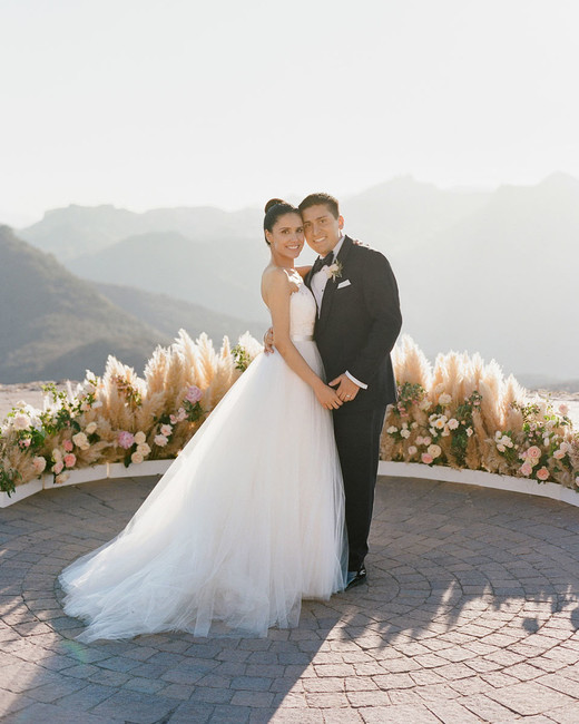 a malibu wedding with a surprise reception location martha stewart
