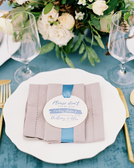 brittany alex wedding place setting