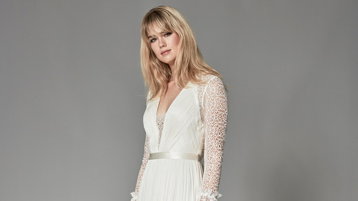 catherine deane fall 2018 long-sleeved lace sleeves