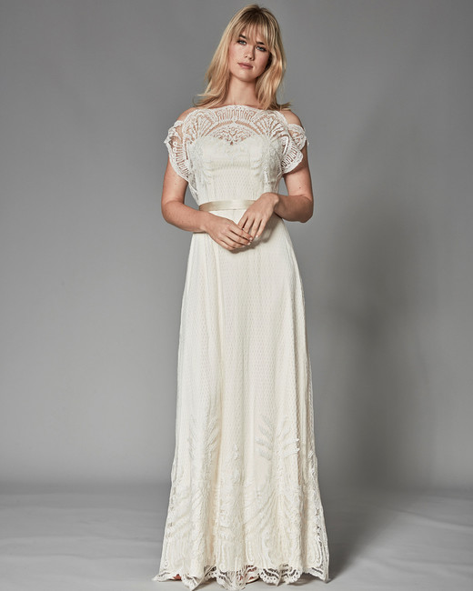 catherine deane fall 2018 detailed bodice lace overlay