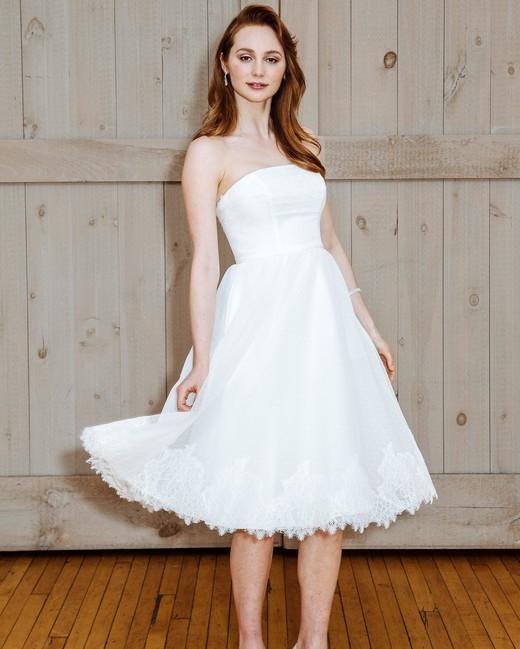 73 chic short wedding dresses martha stewart weddings for Short spring wedding dresses