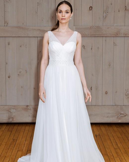 david's bridal sheer strap wedding dress spring 2018