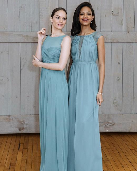 david's bridal blue wedding dress spring 2018