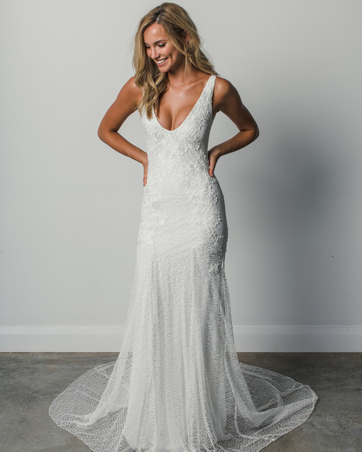 grace loves lace v-neck spring 2018 wedding dress