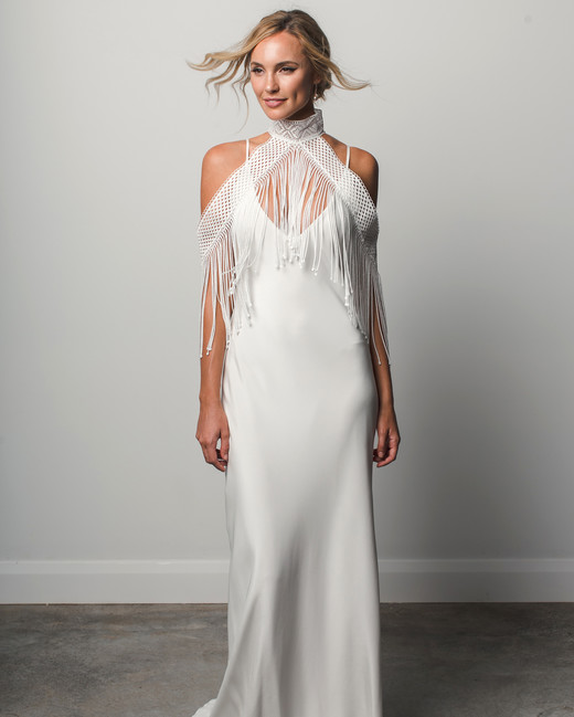 grace loves lace v-neck fringe spring 2018 wedding dress