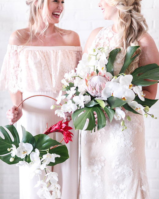 hoop bouquets virginia ashley photography tropical