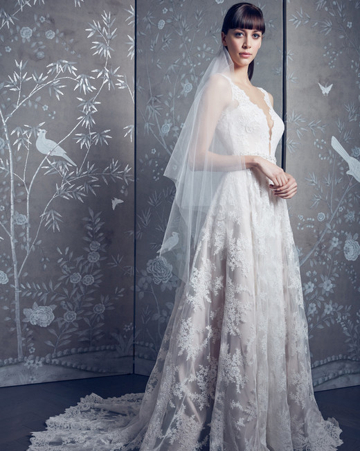 legends romona keveza lace sleeveless a-line wedding dress spring 2020