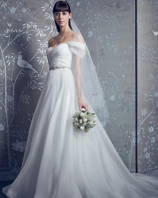 legends romona keveza belted off-the-shoulder wedding dress spring 2020