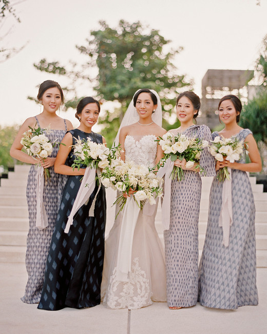 mismatched bridesmaids dresses angga permana
