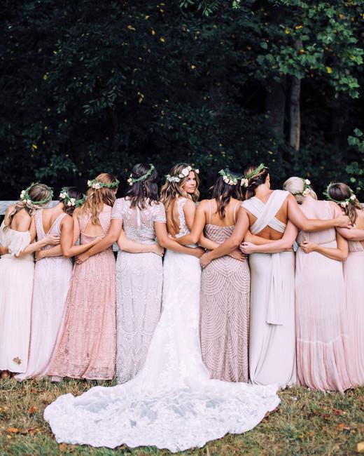 mismatched bridesmaids dresses chelsea diane