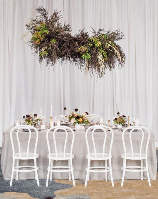 Punchy Gray reception decor