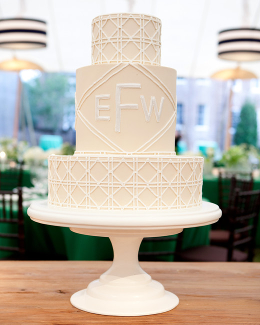 monogram wedding cake gayle brooker jim smeal
