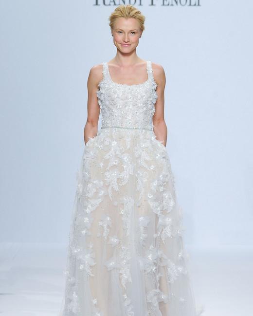 randy fenoli flower lace wedding dress spring 2018