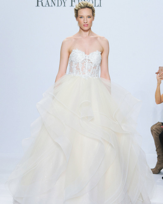 randy fenoli strapless ball gown wedding dress spring 2018