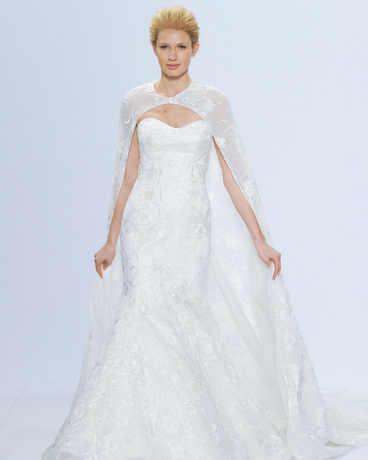 randy fenoli wedding dress with cape spring 2018