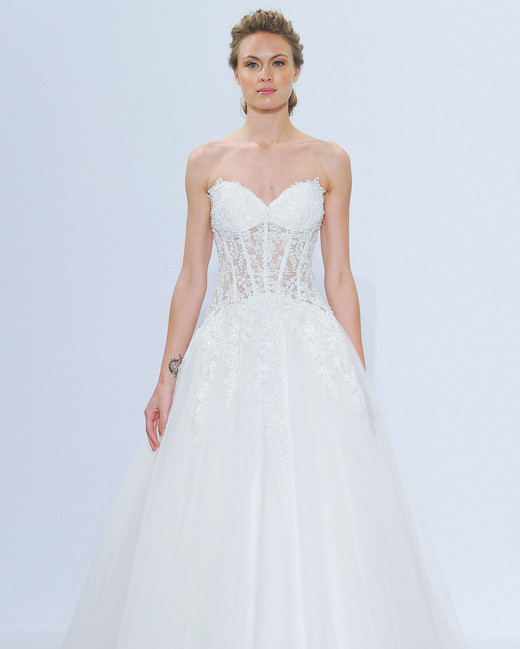 randy fenoli strapless lace wedding dress spring 2018