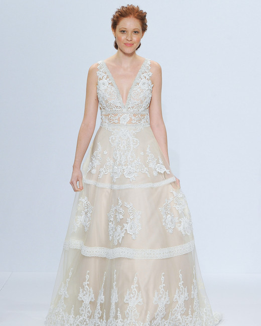 randy fenoli off-white v-neck wedding dress spring 2018