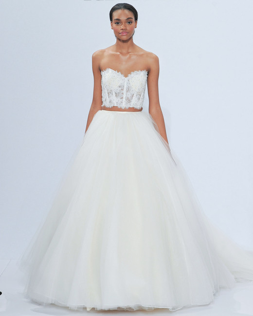 randy fenoli tan bare midriff wedding dress spring 2018