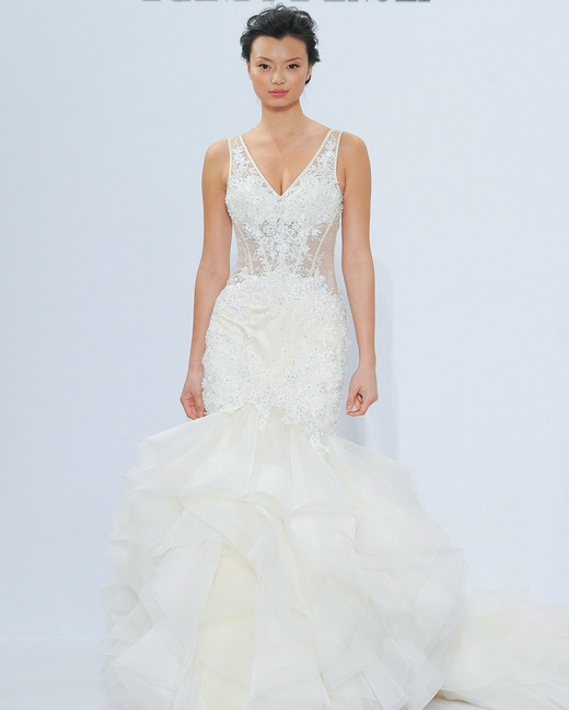 randy fenoli v-neck trumpet wedding dress spring 2018