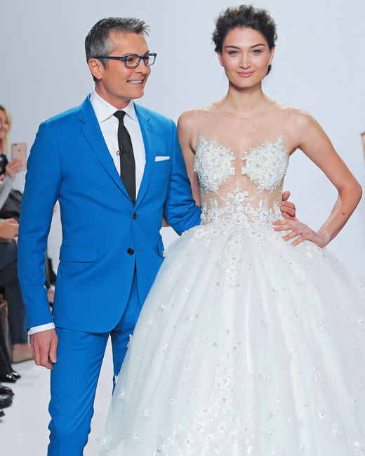 randy fenoli sheer top wedding dress spring 2018