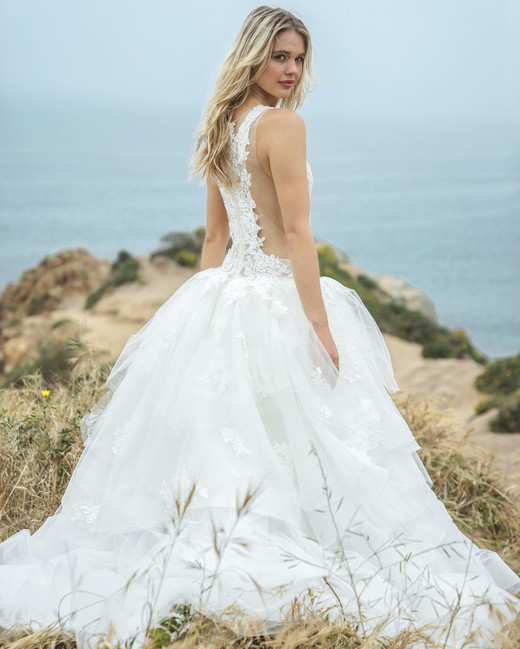 sabrina dahan lace ball gown wedding dress spring 2018