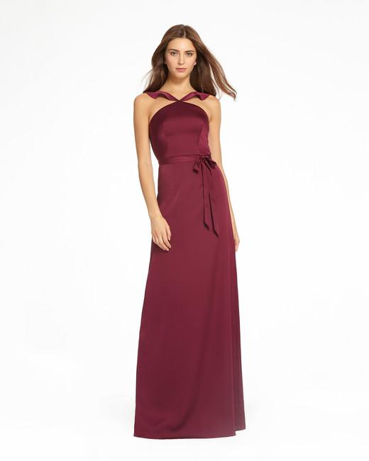 red halter silk dress