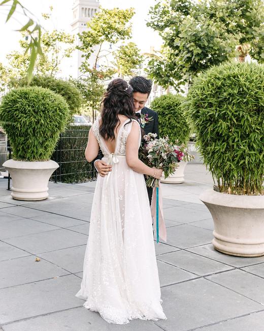 stephanie tim wedding first look