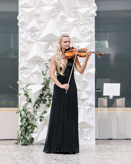 stephanie tim wedding female violinist