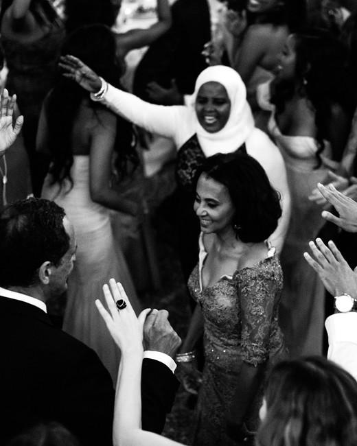 veronica mickias wedding guests dancing